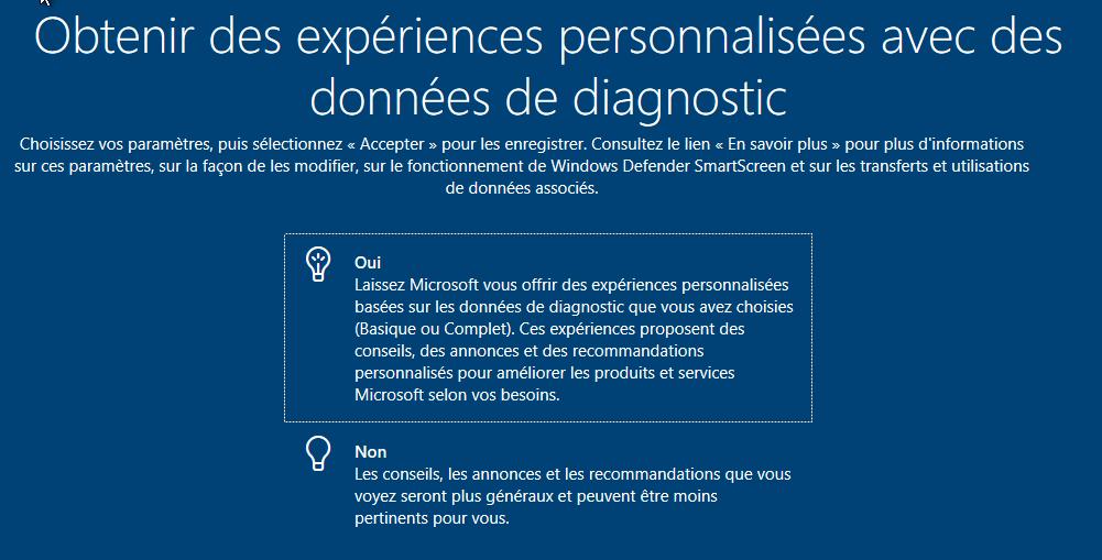 Recevoir des propositions personnalisées de Microsoft