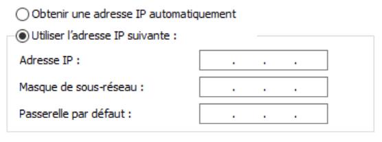 Utiliser une adresse IP fixe