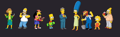 Image représentant la famille Simpsons