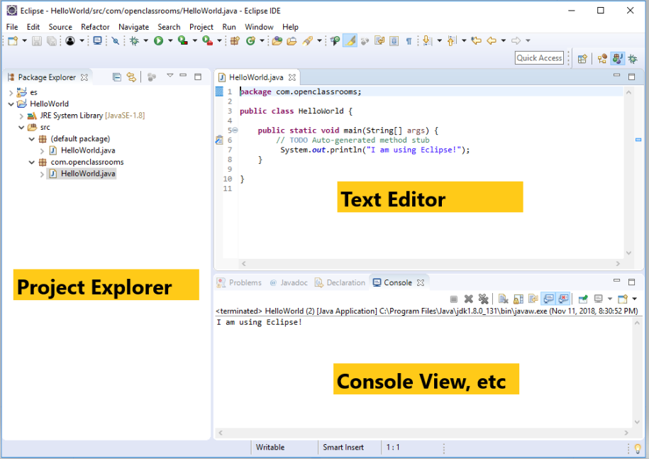 Explore Eclipse functionalities: debugging, Maven, testing with