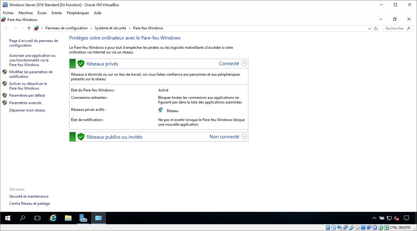Pare-feu Microsoft