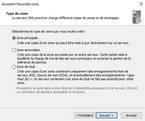 Assistant de configuration d'un serveur DNS