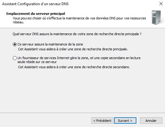 Gestion d'une zone DNS directe