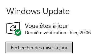 Windows Update sous Windows 10