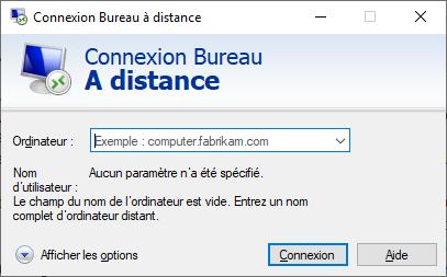 Client permettant l'accès à un bureau à distance