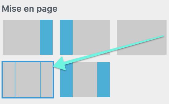 Paramétrer la mise en page