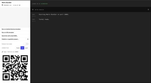 Interface simplifiée pour gérer notre application