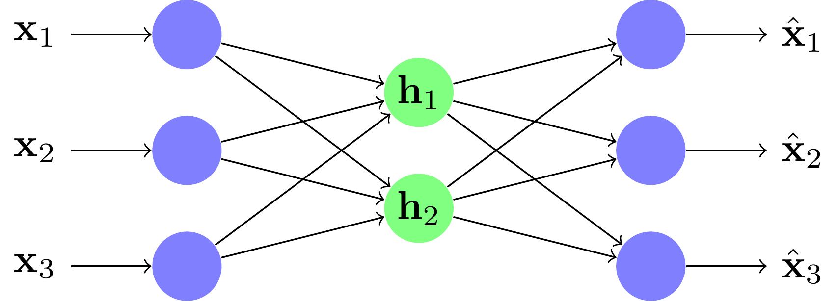 Un exemple de réseau under-complete