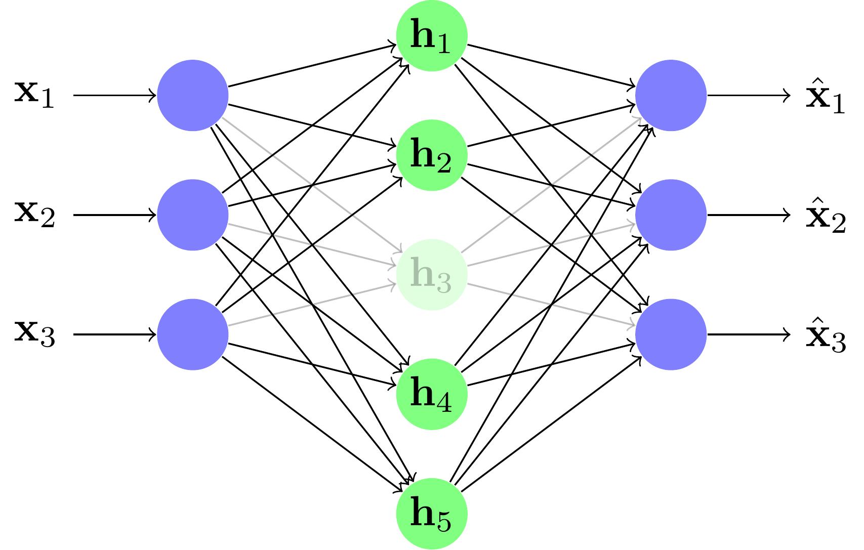Apprendre un réseau over-complete en déconnectant des neurones