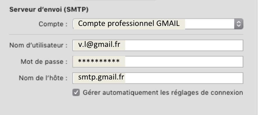 Serveur d'envoi SMTP