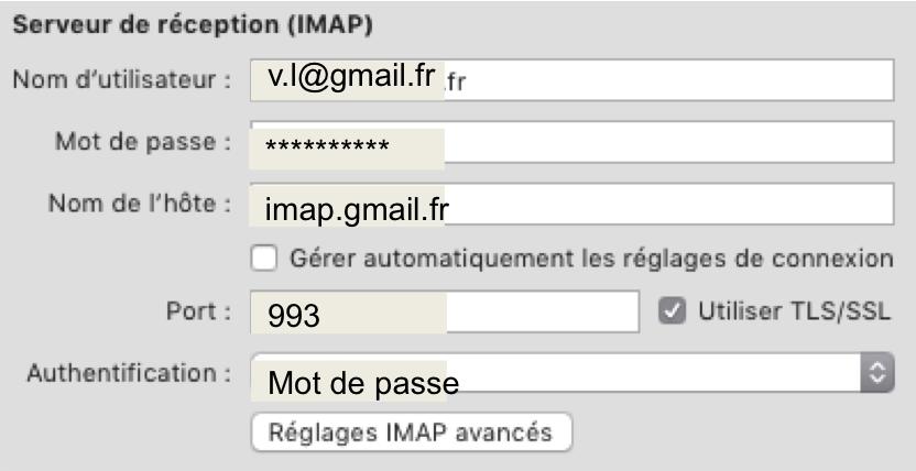 Serveur de réception IMAP