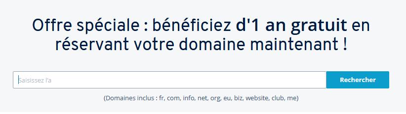 On vous demande de choisir le nom de domaine de votre site