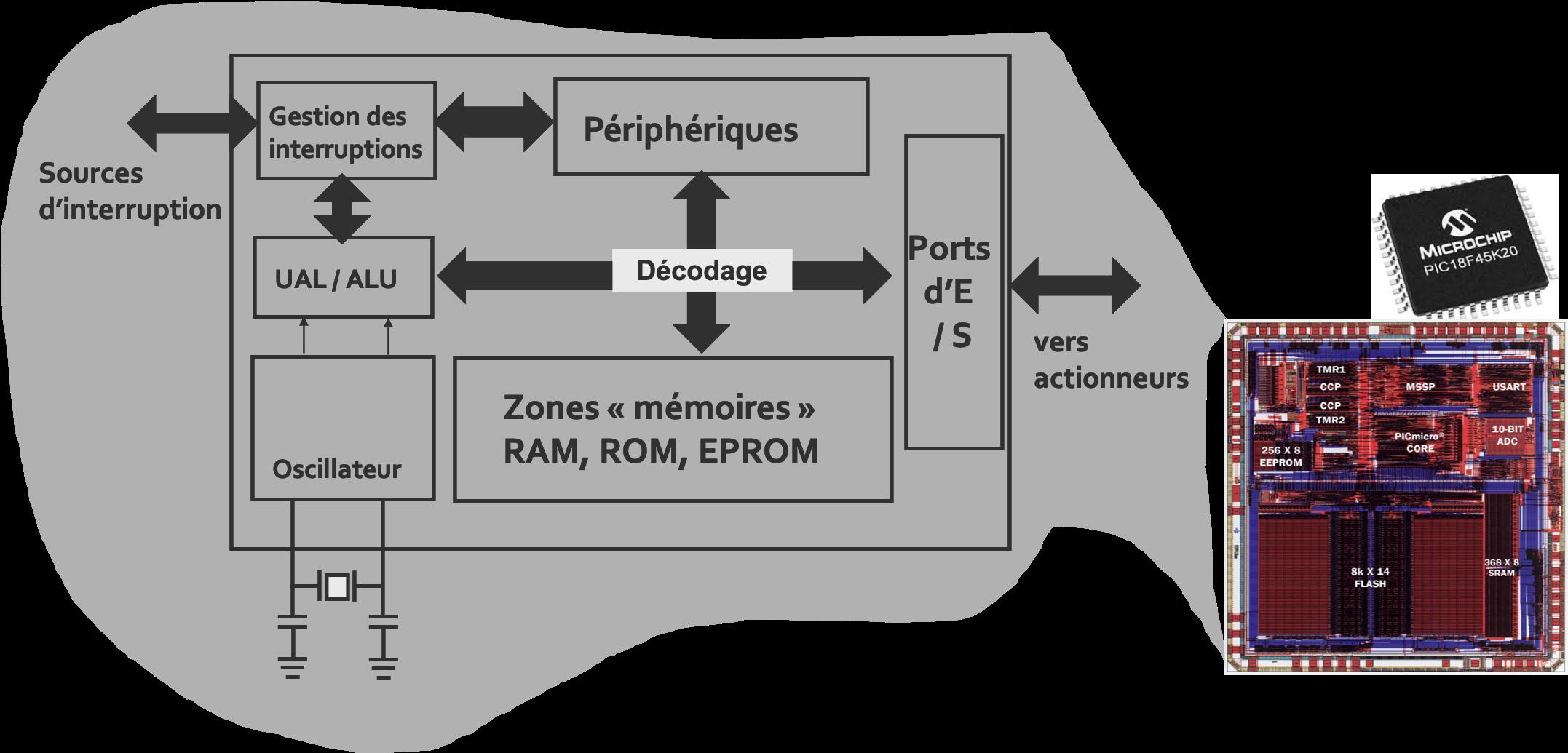 Synoptique simplifié du microcontrôleur