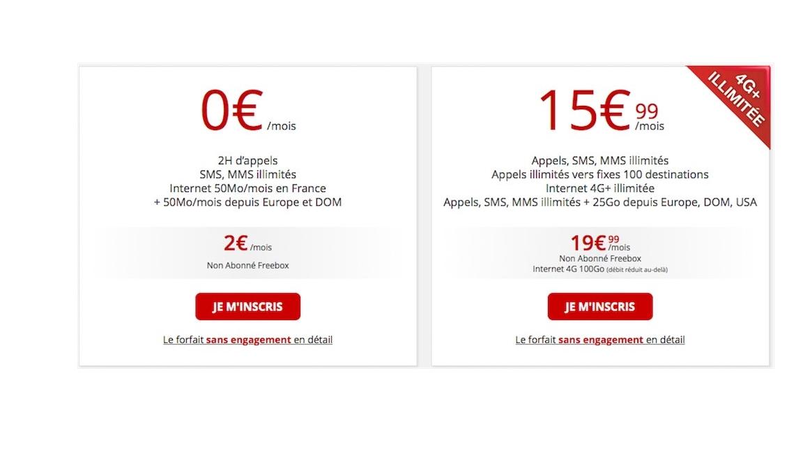 Offres de lancement Free Mobile