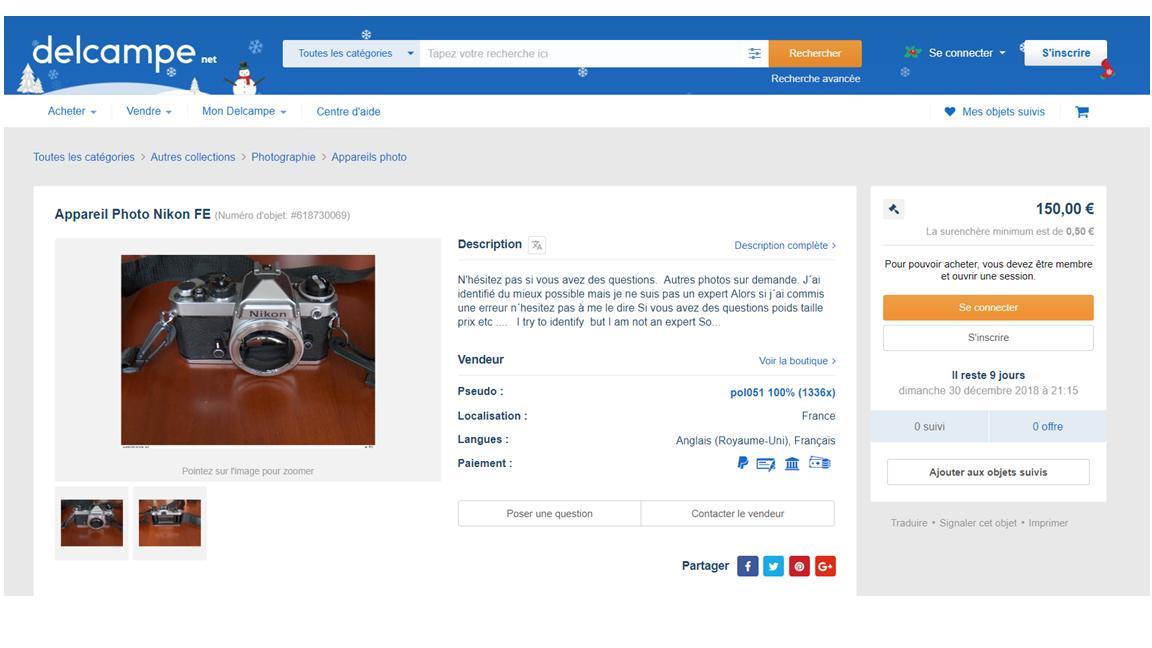 Exemple Delcampe.net