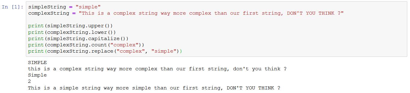 some strings methods