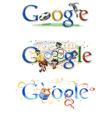 Les logos du moteur de recherche Google personnalisé à l'occasion d'événements