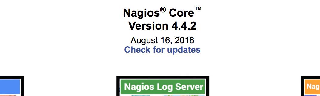 Numéro de version qui apparait sur la frame principale de Nagios