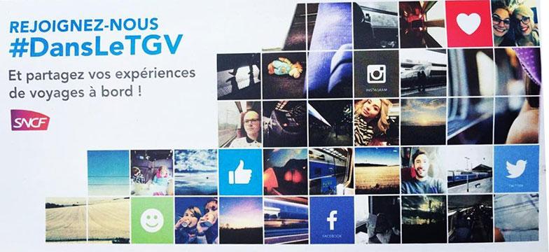 visuel d'une pochette SNCF personnalisé avec photographies de clients
