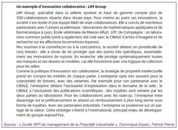 Exemple d'innovation collaborative