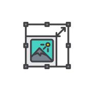 Icône pour représenter le changement de taille d'une image.