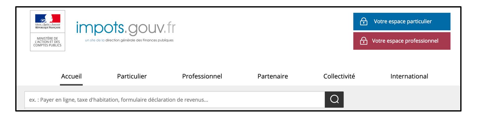 Le site des impôts permet de payer en ligne ses impôts, ou d'obtenir des informations