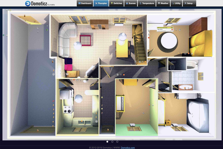 Plan d'habitat dans domoticz