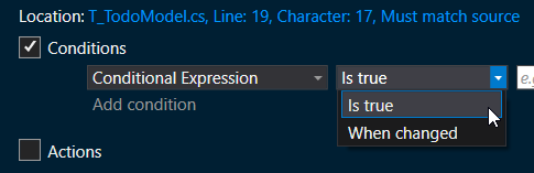 Condition on a Boolean expression