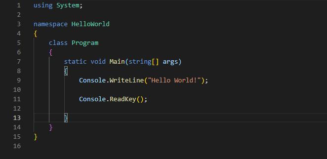 Le code dans un éditeur de code