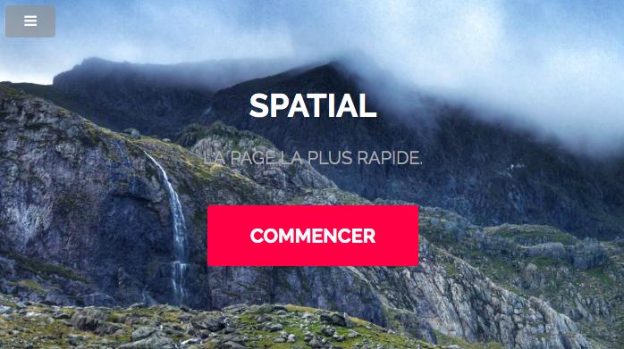 Landing page de spatial