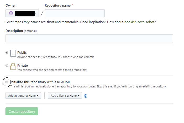 Create your repository!