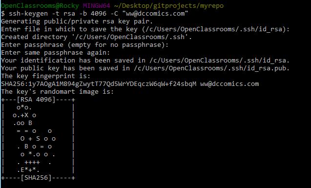 Generate an SSH key pair on Git Bash!
