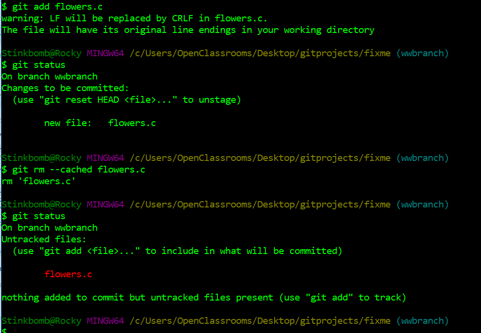 Git rm can remove a staged file you added by mistake!