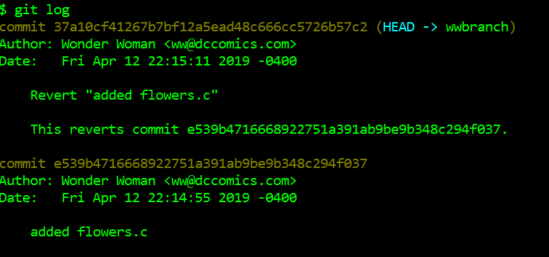 Commit for add flowers.c, commit for revert flowers.c