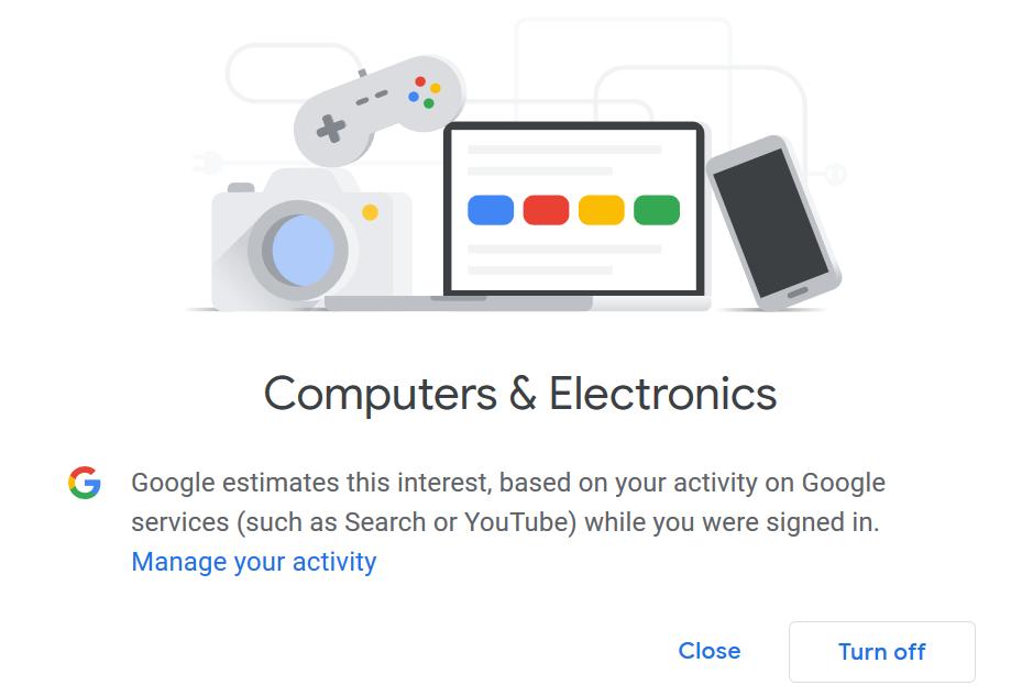 Thématique de publicité Google