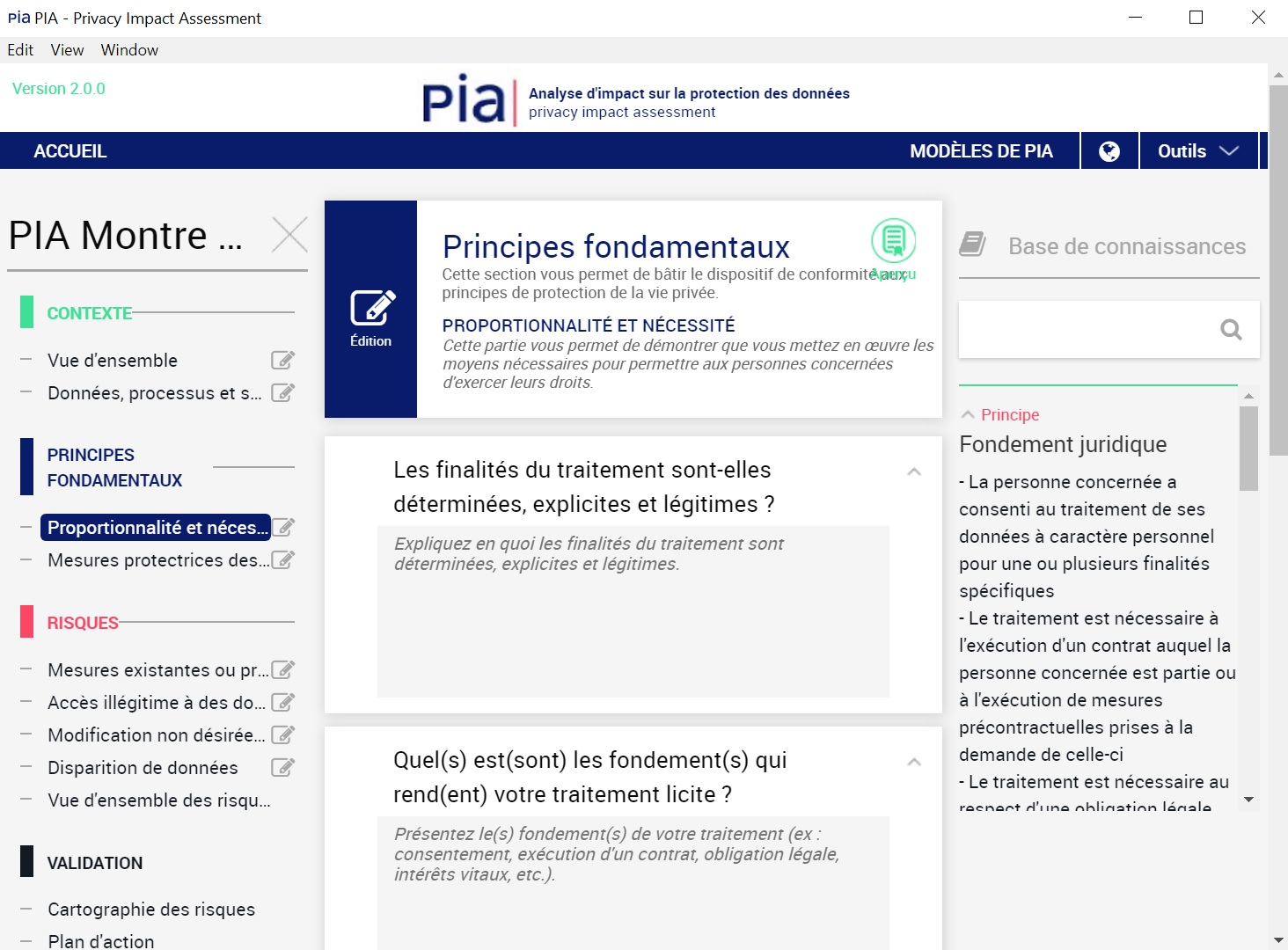 Fondements d'un traitement de données personnelles