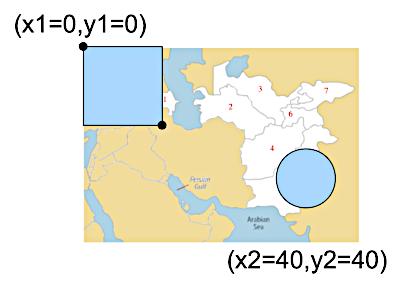 Zones cliquables sur cette carte