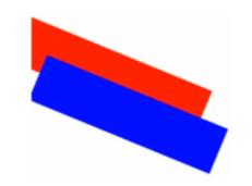 Rotation de deux rectangles