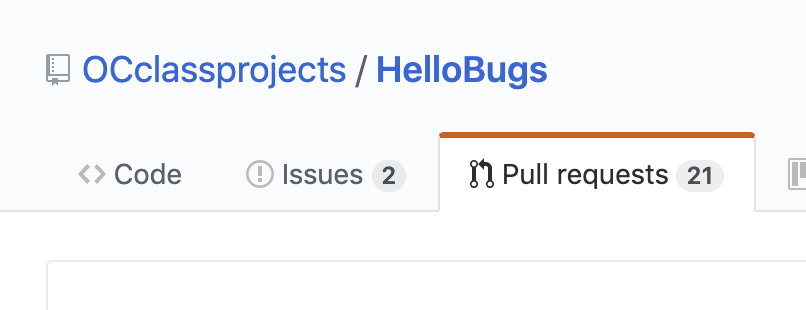 Choose the Pull Requests tab
