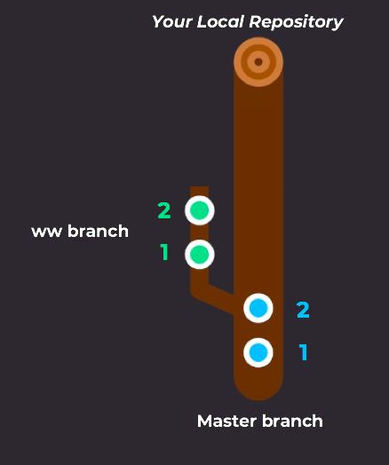 Branches on your local repository