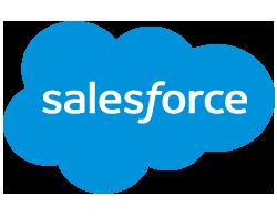 The Salesforce logo: a blue cloud