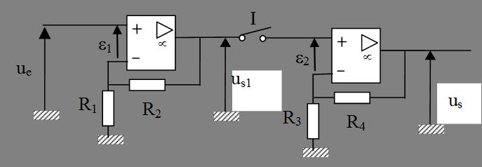 Association en cascade de deux montages amplificateurs