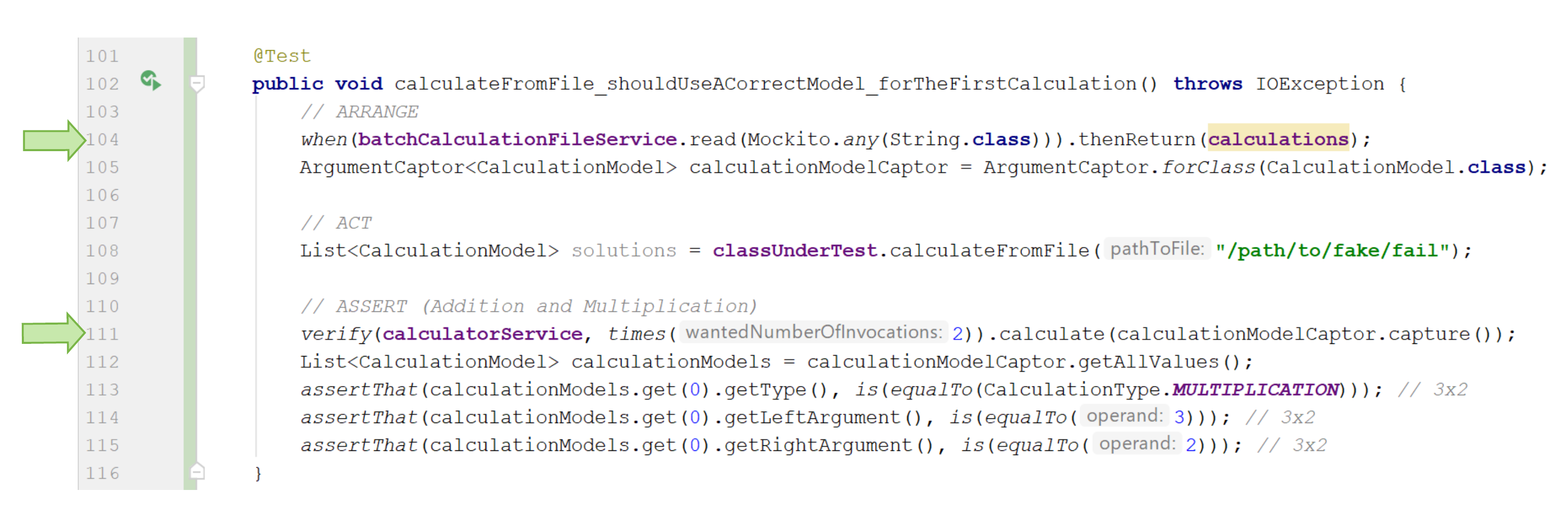 Testing P2 Ch5 Diagram/code snippet 1