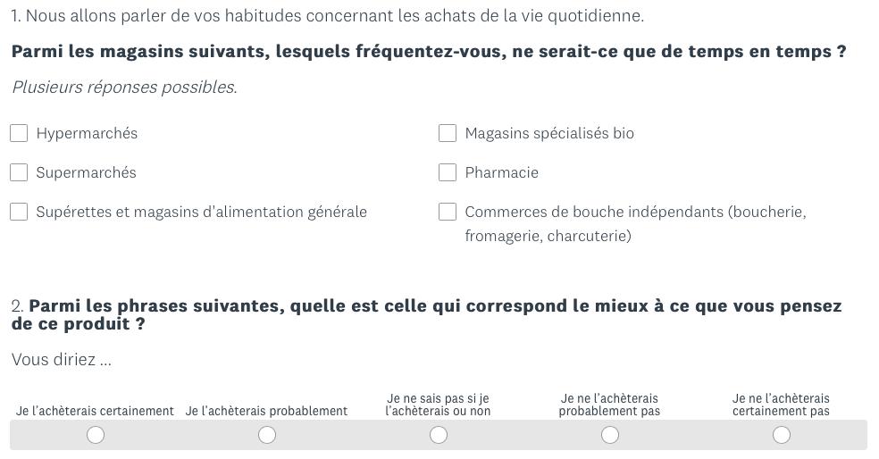 Exemple De Questionnaire Sur Un Produit - Exemple de Groupes