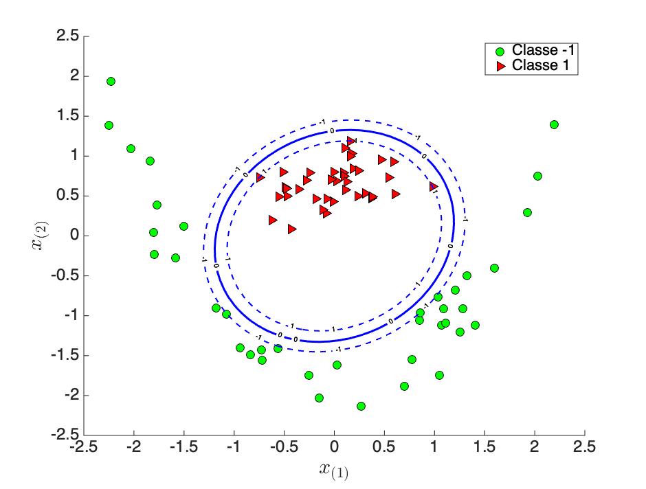 Figure 5-c : Fonction de décision non-linéaire