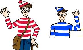 A gauche : illustration représentant le personnage de Charlie. A droite : personnage semblable à Charlie mais qui n'est pas Charlie. C'est un non Charlie.