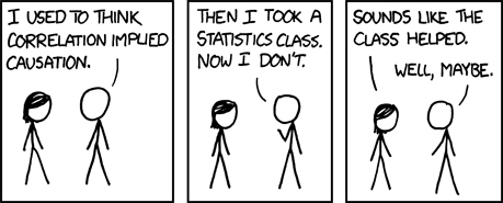 XKCD Correlation and Causation