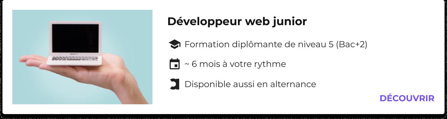 développeur web junior formation
