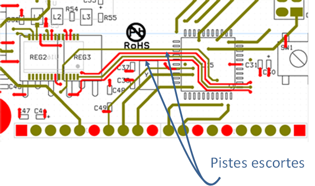 Exemple d'un design de pistes escortes