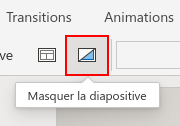 Survol d'une icône sous PowerPoint